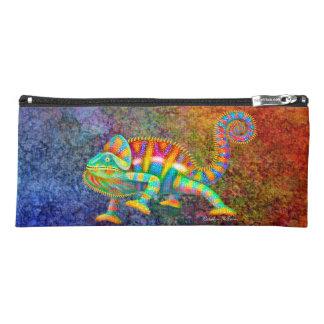 Colorful Panther Chameleon Art Pencil Case