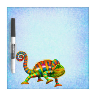 Colorful Panther Chameleon Dry Erase Board