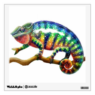 Colorful Panther Chameleon Wall Decal