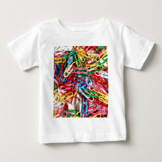 Colorful Paper Clips Office Supply Gifts Baby T-Shirt