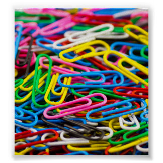 Colorful paper clips poster