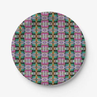 Colorful paper plate. paper plate