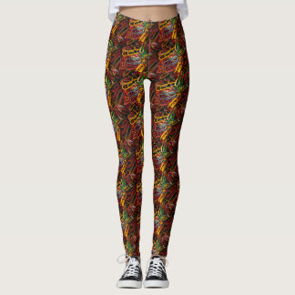 Colorful Paperclips Leggings