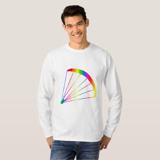 Colorful Paraglider Rainbow Long Sleeve T-Shirt
