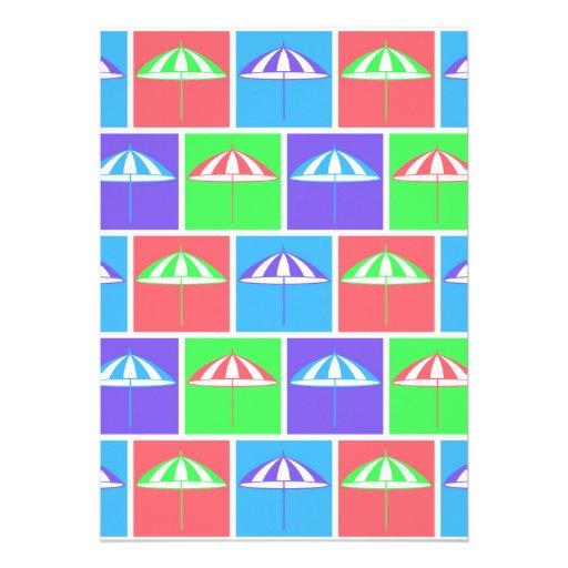 Colorful parasol pattern announcement