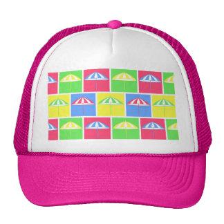 Colorful parasol pattern trucker hat