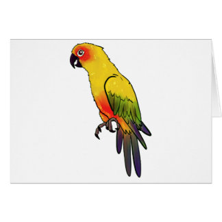 Colorful Parrot Card