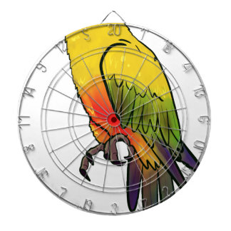 Colorful Parrot Dartboard