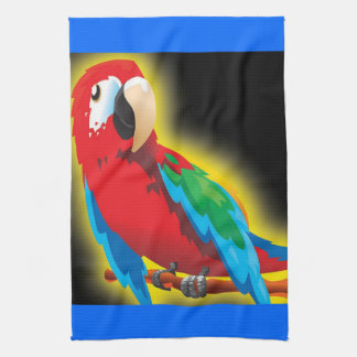 Colorful Parrot Kitchen Towel