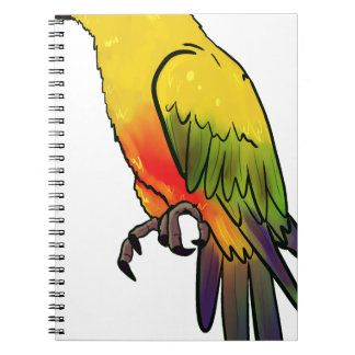 Colorful Parrot Notebook