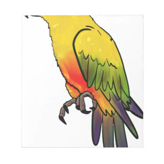 Colorful Parrot Notepad