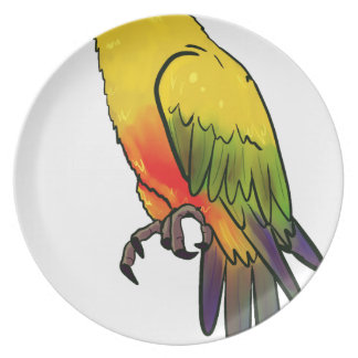 Colorful Parrot Plate