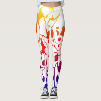 Colorful Party Marble Leggings