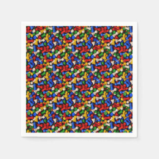 Colorful party paper napkin