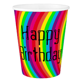 Colorful Party Time Paper Cup