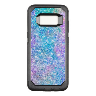 Colorful Pastel Colors Glitter OtterBox Commuter Samsung Galaxy S8 Case