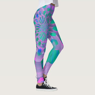 Colorful Pastel Geometric Abstract Leggings