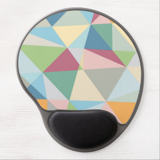 Colorful Pastel Geometric Modern Pattern Gel Mouse Pad
