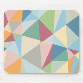 Colorful Pastel Geometric Modern Pattern Mouse Pad