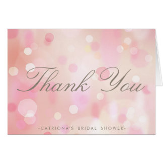Colorful Pastel Lights Thank You Note Card