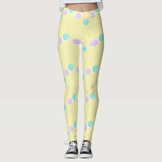 colorful pastel lollipops leggings