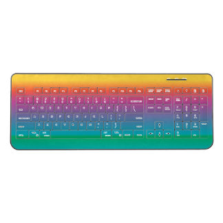 Colorful Pastel Rainbow Shades Wireless Keyboard