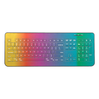 Colorful Pastel Rainbow Wireless Keyboard