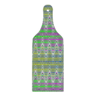 Colorful Pastel Zigzag Pattern Cutting Boards