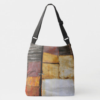 Colorful Patched Shutters Crossbody Bag