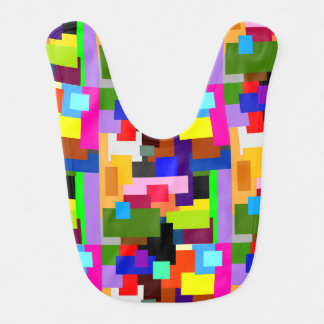 Colorful Patchwork Layers Modern Abstract Bib