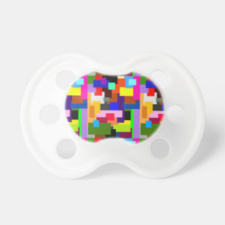 Colorful Patchwork Layers Modern Abstract Pacifier