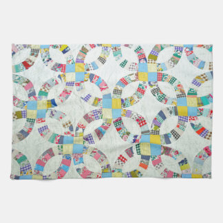 Colorful patchwork quilt hand towel