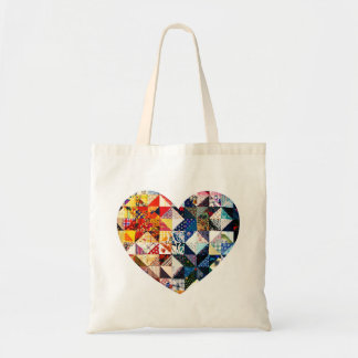 Colorful Patchwork Quilt Heart