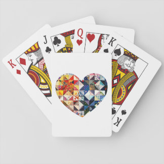 Colorful Patchwork Quilt Heart Poker Deck