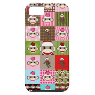 Colorful Patchwork Sock Monkey iPhone 5 Cover