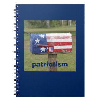 Colorful Patriotic Mailbox Notebook