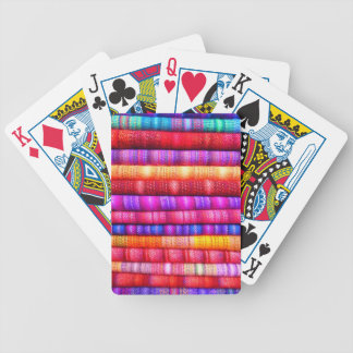 Colorful pattern bicycle playing cards