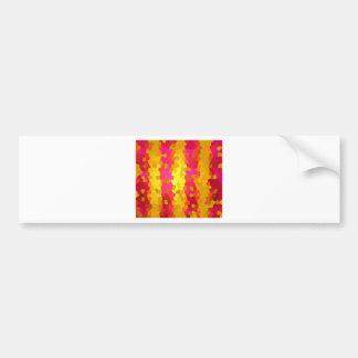 Colorful pattern bumper sticker