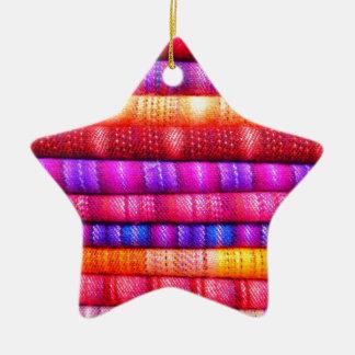 Colorful pattern ceramic ornament