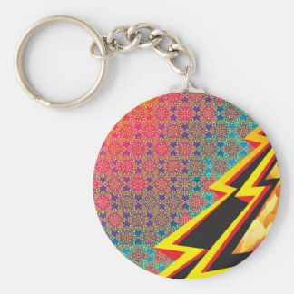 "Colorful Pattern Creation ""Flash Gordon"" Keychain"