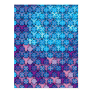"Colorful Pattern Creation ""Love at First Night"" Postcard"