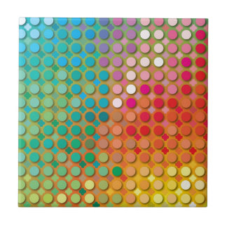 """Colorful Pattern Creation """"Love at First Night"""" Ceramic Tiles"""