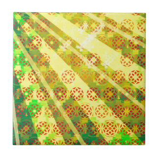 "Colorful Pattern Creation ""Morning Sun"" Tile"