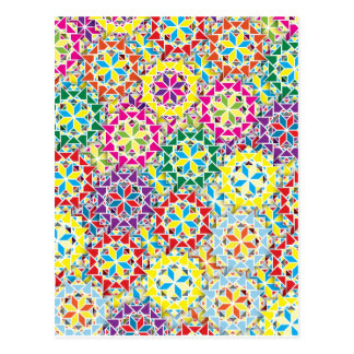 """Colorful Pattern Creation """"My Los Angeles"""" Postcard"""
