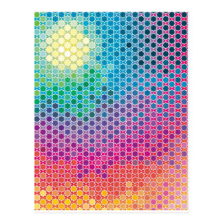 "Colorful Pattern Creation ""Starlight"" Postcard"