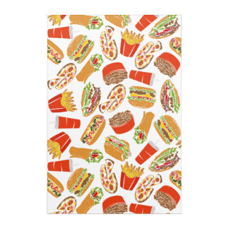 Colorful Pattern Illustration Fast Food Acrylic Print