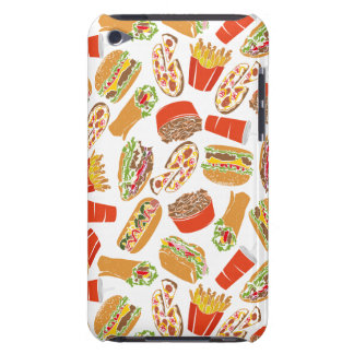 Colorful Pattern Illustration Fast Food Barely There iPod Covers