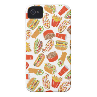 Colorful Pattern Illustration Fast Food Case-Mate iPhone 4 Case