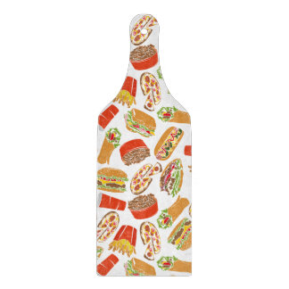 Colorful Pattern Illustration Fast Food Cutting Board