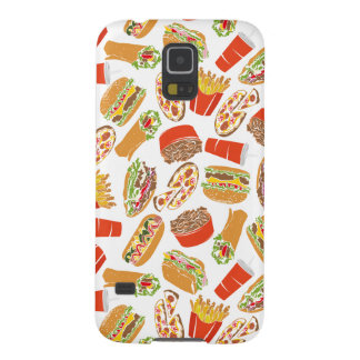 Colorful Pattern Illustration Fast Food Galaxy S5 Case
